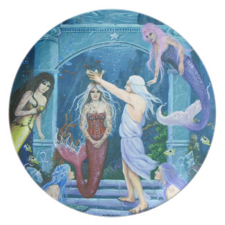 Star Dancer ~The Crowning of Ariel by Lori karels Party Plate