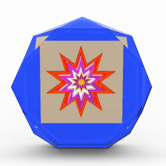 STAR Decorations : BLUE Background LOWPRICES Acrylic Award