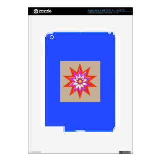 STAR Decorations : BLUE Background LOWPRICES Decal For iPad 3