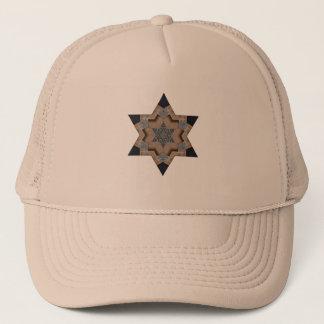 star design of printer cuts hat