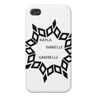 Star Design (personalized) In Center iPhone 4 Cover