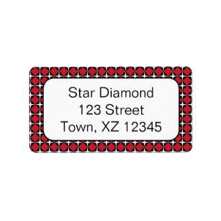 Star Diamonds Address Label