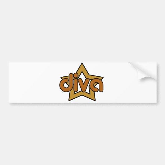 Star Diva Bumper Sticker