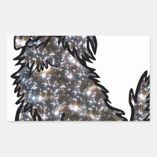 Star_Dog1 Rectangular Sticker