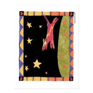 Star dog postcard