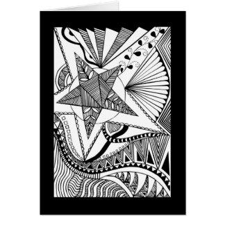 Star doodle card
