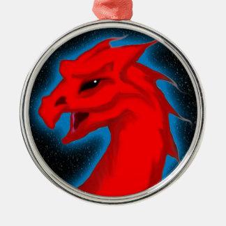 Star Dragon Round Metal Christmas Ornament