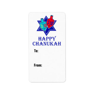 Star & Dreidel Gift Custom Address Label