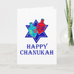 """Star & Dreidel Holiday Card<br><div class=""""desc"""">A Happy Chanukah to all with this Jewish star and pair of dreidels.</div>"""