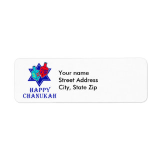 Star & Dreidel Return Address Label
