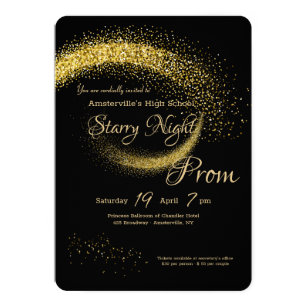 Star Dust Prom Invitation