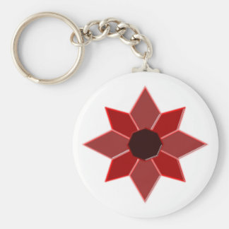 Star eight-hit a corner octagon star keychain