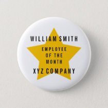 Star Employee of the Month Name | Company Pinback Button