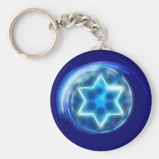 Star Encircled Basic Round Button Keychain