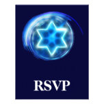 Star Encircled RSVP Personalized Announcements