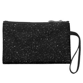 STAR EXPANSE (an outer space design) ~ Suede Wristlet Wallet