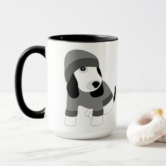 Star eye cute dressed puppy dog mug