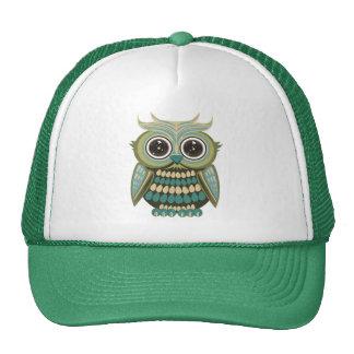 Star Eye Owl - Green Trucker Hat