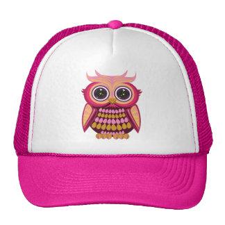 Star Eye Owl - Pink Orange Trucker Hat