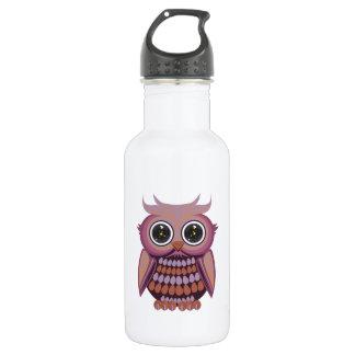 Star Eye Owl - Purple Orange (2) 18oz Water Bottle