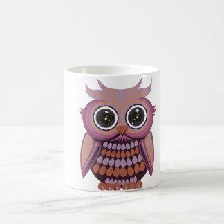 Star Eye Owl - Purple Orange Classic White Coffee Mug