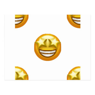 star eyes emoji postcard
