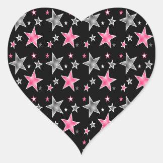 Star Fantasy Heart Sticker
