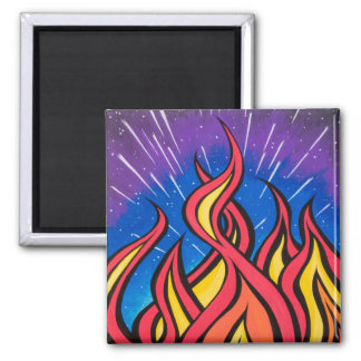 Star Field Combustion by Mark Bray 2 Inch Square Magnet