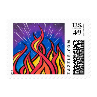 Star Field Combustion by Mark Bray Postage Stamp