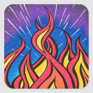 Star Field Combustion by Mark Bray Square Sticker