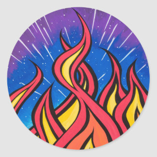 Star Field Combustion by Mark Bray Classic Round Sticker