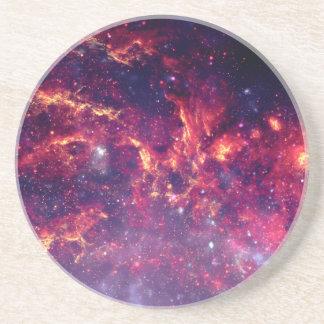 Star Field in Deep Space Sandstone Coaster