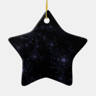 Star field Spirals Double-Sided Star Ceramic Christmas Ornament