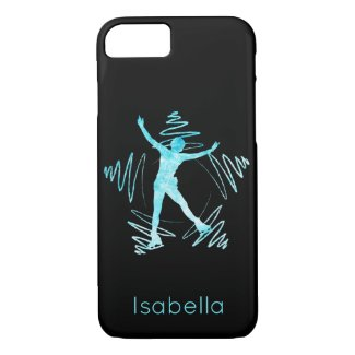 Star Figure skater phone case frozen blue