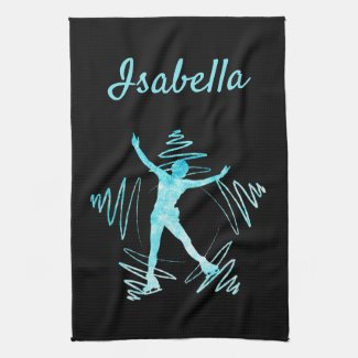 Star Figure Skating Towel blade black frozen blue