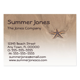 Star-filled Day Profile Card Template Large Business Card