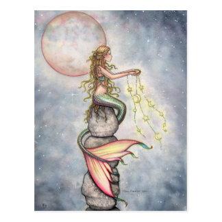 Star Filled Sky Mermaid Postcard