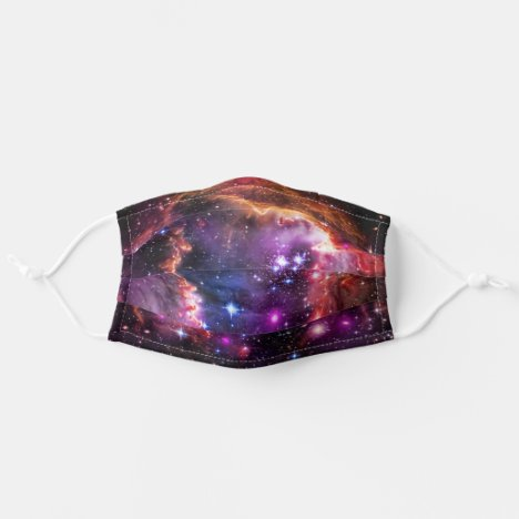 Star-filled Small Magellanic Cloud Wingtip Adult Cloth Face Mask