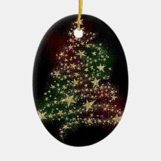 Star Filled Tree Ornament