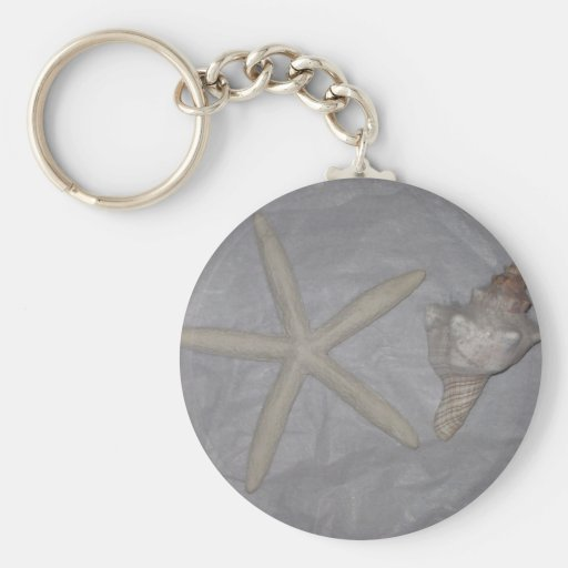 Star Fish and Seashell Keychains