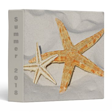 Beach Themed Star Fish at the Beach 3 Ring Binder