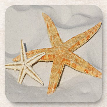 Beach Themed Star Fish at the Beach Beverage Coaster