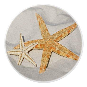Beach Themed Star Fish at the Beach Ceramic Knob