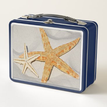 Beach Themed Star Fish at the Beach Metal Lunch Box