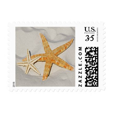 Beach Themed Star Fish at the Beach Postage