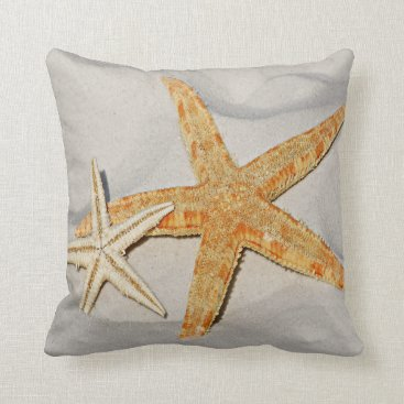 Beach Themed Star Fish at the Beach Throw Pillow