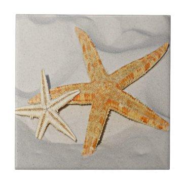 Beach Themed Star Fish at the Beach Tile