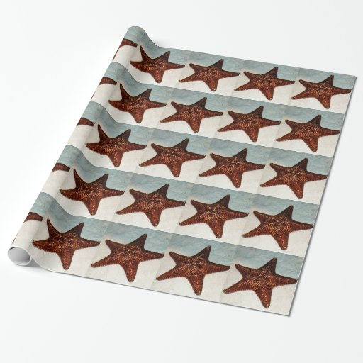 Star fish gift wrapping paper zazzle for Fish wrapping paper