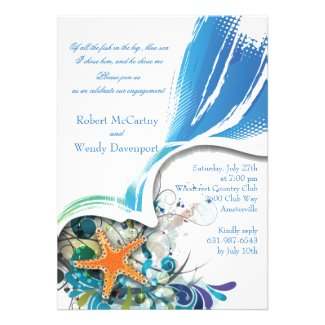Star Fish Invitation