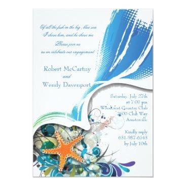 Beach Themed Star Fish Invitation